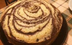Бисквитный торт Зебра
