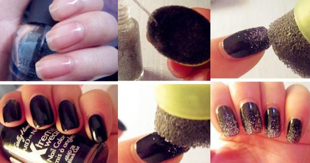 Декор ногтей с блестками