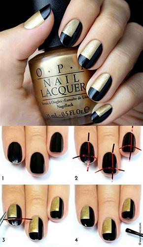 Дизайн ногтей при помощи ленты для нейл-арта