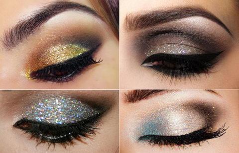 Новогодние тени для глаз