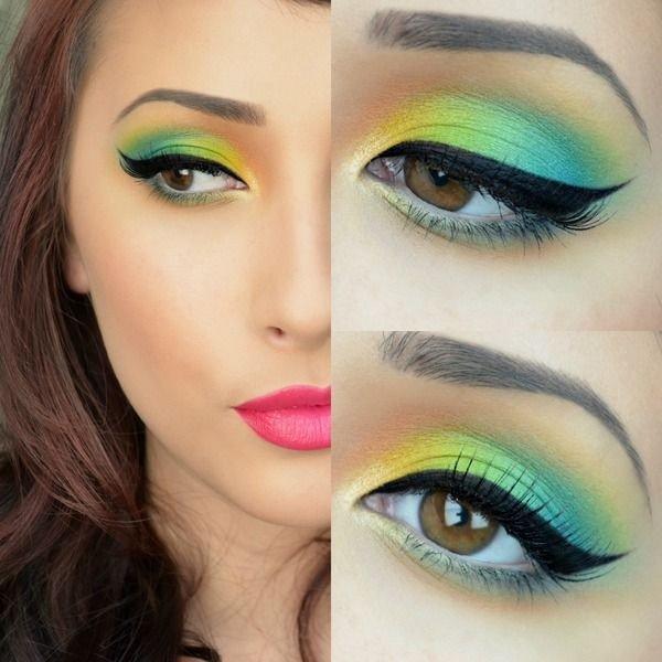 Яркие желто-зеленые тени