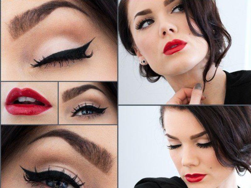 Строгий макияж к Новому Году