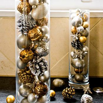 Декорирование квартиры новогодними игрушками