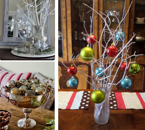 Новогодние шарики при декорировании квартиры