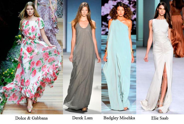 8ab08c0352c Дома мод этим летом делают ставку на платья макси. Лучше всего выбирать  платья из легкой и летящей ткани. Такая одежда отлично подходит
